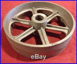 10 Inch Cast Iron Wheel Hit & Miss Gas Engine Flywheel Cart Truck Fairbanks IHC