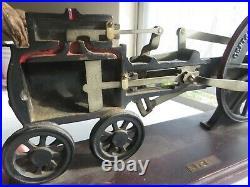 1900's Hit-N-MISS PATENT DEMO DISPLAY STEAM ENGINE HAND CRANK BEAUTIFUL DISPLAY