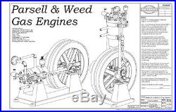 1902 Parsell and Weed Hit and Miss Engine Model Casting Kit, Plans Castings Vrt