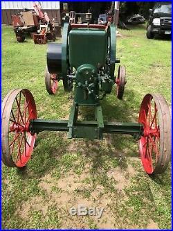 1912 Fairbanks Morse Type H 6 HP Hit Miss Steam Gas Tractor Engine Cart
