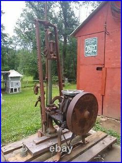 1912 Fuller Johnson Hit N Miss Pump Engine With Pump
