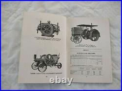 1912 International Harvester Engine Operator's Guide Hit & Miss Kerosene Tractor