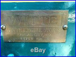1919 Vintage Witte Hit and Miss Engine 2 HP