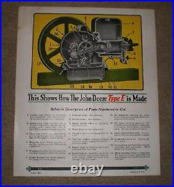1927 John Deere 3 HP Antique Hit Miss Stationary Engine Farm Tractor Pump Power