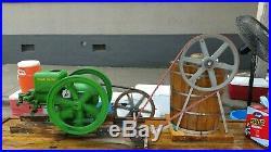 1930 John Deere Hit & Miss ICE CREAM MAKER with E Model 1 1/2 HP Engine, Wagon