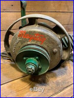 1936 Antique Maytag Model 92 Hit and Miss Gas Engine Kick Start Motor Wash Old