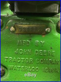 1936 John Deere 1 1/2HP Hit & Miss Engine