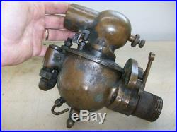 1-1/2 SCHEBLER CARBURETOR with Throttle Old Car Tractor Gas Hit and Miss Engine