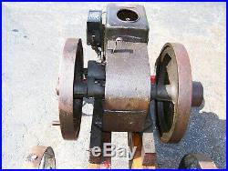 1 1/2hp MONTGOMERY WARD SATTLEY Hit Miss Gas Engine Steam WICO EK Magneto WOW
