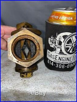 1 1/4 POWELL Diamond Regulating Valve Gas Cock Brass Hit Miss Gas Engine