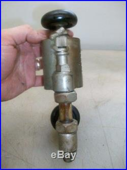 1/3rd PINT AMERICAN LUBRICATOR OILER NICKEL PLATED Hit & Miss Old Steam Engine