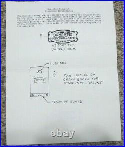 1/4 Scale Domestic Side Shaft Air Cooled Hit&Miss Model Casting Kit Unbuilt Rare
