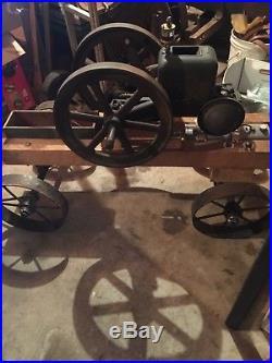 1hp Root and Vanderoot hit miss engine model AR 1915 On cart