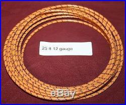 25 ft 12 ga Primary Orange Wire Hit & Miss Gas Engine