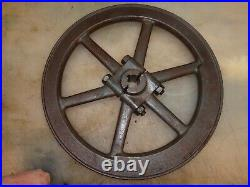 2 BOLT FLYWHEEL for 2hp SPARTA ECONOMY Hit and Miss Old Gas Engine Nice