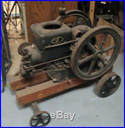 3HP Fairbanks Morse hit miss engine on cart