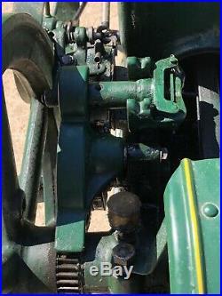 3 Hp Fuller & Johnson Hit Miss Gas Engine With Pull Cart Runs Nice