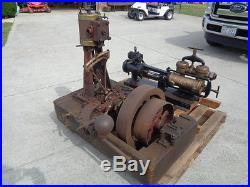4 1/2 x 4 1/2 verticle steam engine RARE reversing, boat launch, hit miss
