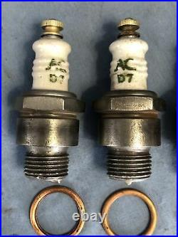 4 AC IHC Truck Tractor D7 Vintage Antique Spark Plugs 18mm Threads 1920 1950s