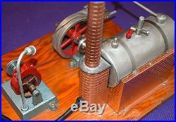 60's VINTAGE JENSEN MFG STYLE NO. 20 STEAM ENGINE ELECTRIC POWER PLANT HIT MISS