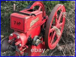7 HP Hit and Miss stationary engine early 1900's Economy Brand Nice