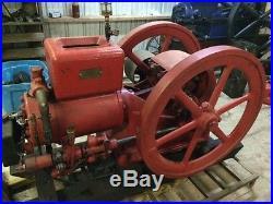 7hp Jacobson sideshaft hit & miss gas engine. Antique motor IHC Fairbanks