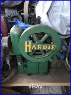 ANTIQUE HARDIE FARM WATER PUMP HIT MISS Engine EXCELLENT RARE