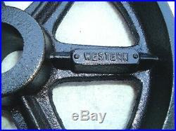 ANTIQUE HIT & MISS GAS ENGINE CAST IRON CART WHEEL SET 12 x 3 HEAVY DUTY