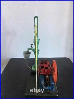 Aermotor 8 Cycle Hit & Miss Gas Engine Scale Model with walking beam & pump