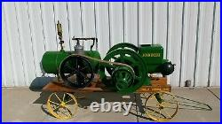 Antique 1928 John Deere 6 hp. Hit and Miss Engine with whistle