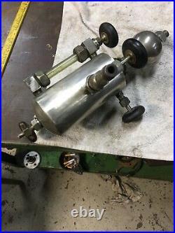 Antique Brass Nickel Detroit 1Qt. Lubricator Oiler Hit Miss Steam Engine Decor