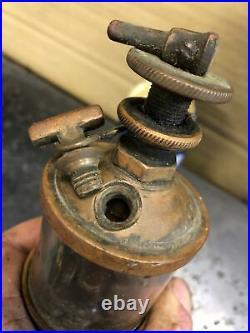 Antique Brass Oiler Pair Hit Miss Steam Engine Parts