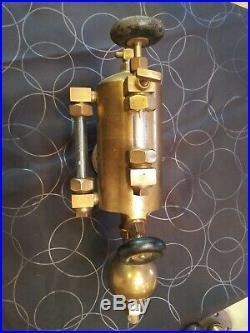 Antique Detroit 1qt Lubricator Oiler Hit Miss Steam Engine Steampunk