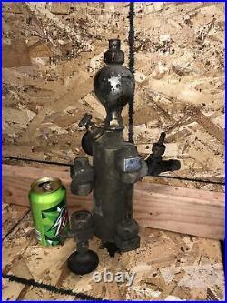 Antique Detroit Lubricator Oiler Brass Nickel Hit Miss Steam Engine 1pt