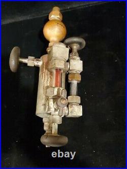 Antique Detroit Steam Engine lubricator oiler hydrostatic oiler hit & miss train
