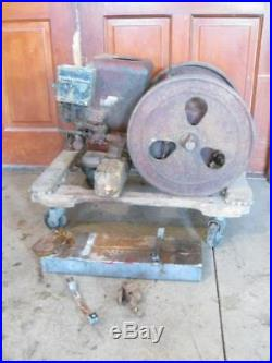 Antique Economy 2 HP Hit & Miss Gas Engine No. TA232623SR for Parts or Restore