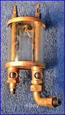 Antique Essex Brass Double Drip Oiler Gas Steam Marine Stationary Hit Miss Engin
