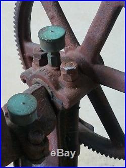 Antique Goulds tri-cylinder Water Pump RARE hit miss engine motor brass display
