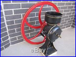 Antique Grist Mill Corn Grinder Hit And Miss Gas Engine Wheat Grits