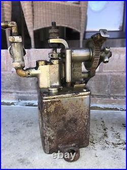 Antique Hills McCanna Ratchet Lubricator Oiler Hit Miss Steam Engine NICE! SMALL
