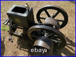 Antique Hit & Miss Engine 5 HP Fuller Johnson N Kerosene untouched for yrs