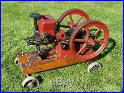 Antique Hit & Miss Engine Associated 2 Hp On Trucks
