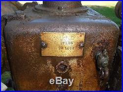 Antique Hit & Miss FRIEND Gas engine / water pump, stored decades
