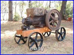 Antique Hit Miss Gas Engine Cast Iron Cart Truck Parts Set 12 Five Spoke Wheels
