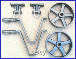 Antique Hit & Miss Gas Engine Wheelbarrow Cart Parts Set Cast Iron Five Spoke