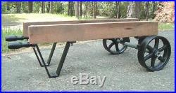 Antique Hit & Miss Gas Engine Wheelbarrow Cart Parts Set Cast Iron Six Spoke