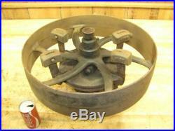 Antique Hit & Miss Gas Steam Engine Flat Belt Pulley Line Shaft Governor Clutch