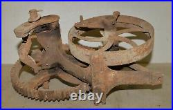 Antique KJ well pump flywheel patent Oct 21 1924 hit & miss engine collectible