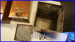 Antique Lunkenheimer Machine Shop Oil Copper Oiler Cans Lathe Hit Miss Engine
