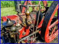 Antique Ohio Side Shaft Hit & Miss Gas Steam Hot Air Engine Motor Sandusky Old